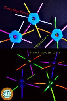 Welcome to our Fabulous Friday post! We quickly made these fun Glowing Ninja Stars and Glowing Flowers to play with using pool noodles and glow sticks, and now you can too :). My kiddos loved spinning around and dancing with them, throwing them through the air, or playing with them on the water. Because they are …