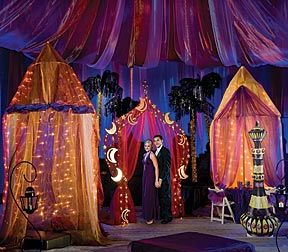 Transport your prom to the romance of 1001 Nights with an Arabian theme! This theme is a fun new twist on the destination prom and is perfect for lush colors and beautiful accents. Stumps Party has...