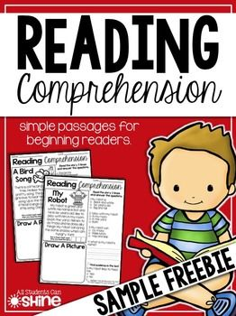 Reading Comprehension Passages These reading passages are perfect for a quick comprehension assessment!  ** This FREEBIE is a SAMPLE of my complete set of 30 passages.  All passages have simple sight words and decodable words with digraphs and blends.