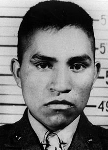"""Ira """"Chief Falling Cloud"""" Hayes - was a Pima Native American and an American Marine who was one of the six men immortalized in the iconic photograph of the flag raising on Iwo Jima during World War II."""