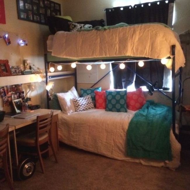 34 The Nuiances Of Dorm Room Ideas Lofted Bed Desk Nyamanhome