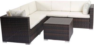 heute-wohnen Poly-Rattan Sofa-Garnitur ROM Basic, Sitzgruppe Lounge-Set, Alu Jetzt bestellen unter: https://moebel.ladendirekt.de/garten/gartenmoebel/loungemoebel-garten/?uid=b8ba69a3-cd25-5d8f-a2c4-e2e6cbe2bd71&utm_source=pinterest&utm_medium=pin&utm_campaign=boards #loungemoebelgarten #garten #gartenmoebel