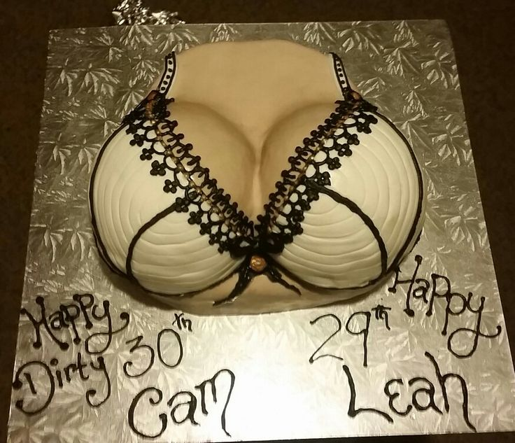 Front view of the boob cake