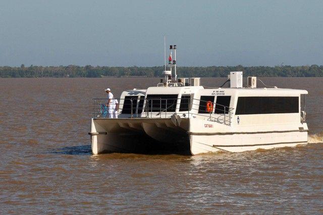 ARCON-PA - Viagem inaugural em lancha rápida marca novo transporte entre Belém e Salvaterra
