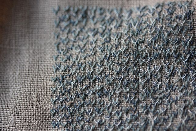blue fly stitch by clarabellacraft, via Flickr