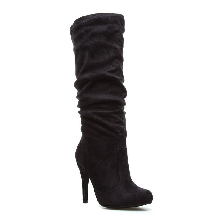 Knee high heel boots