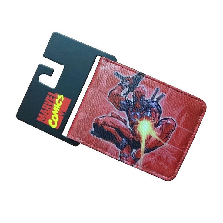 Comics DC Marvel Short Wallet Men Anime Leather Purse Cartoon Deadpool Series 4.5 inch Money Bags Waterproof  Wallets cartera
