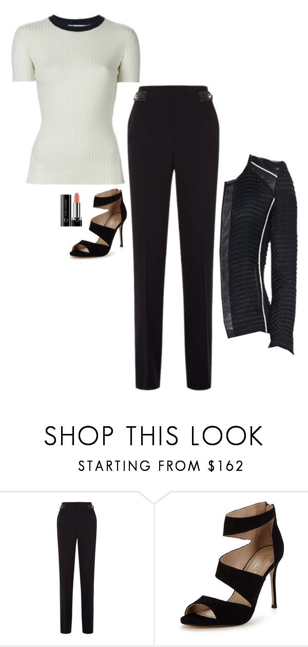 """""""Cat Grant Inspired Outfit"""" by daniellakresovic ❤ liked on Polyvore featuring Sandro, Carvela and Marc Jacobs"""