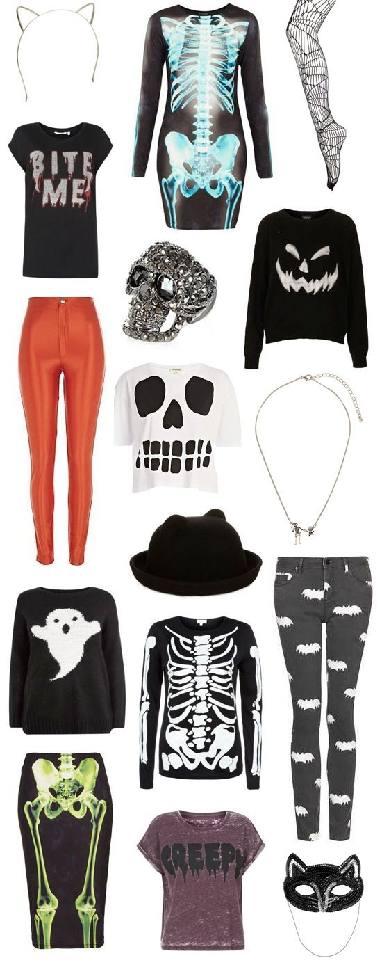 I only like the pumpkin shirt, the shirt that says creepy on it, & the cat ears headband.