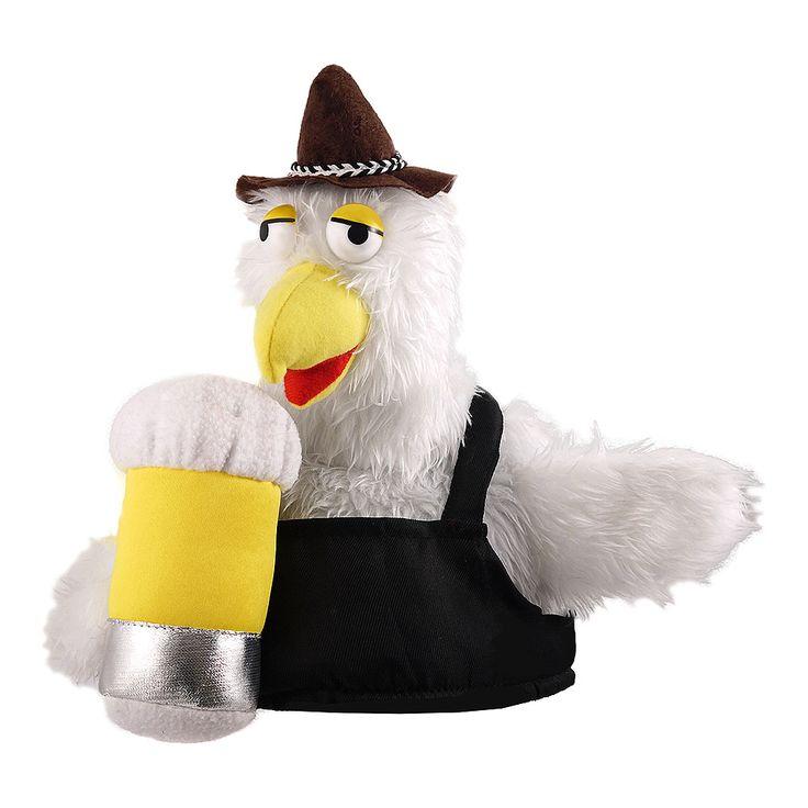Novelty Bird & Beer Fancy Dress Hat (Black)