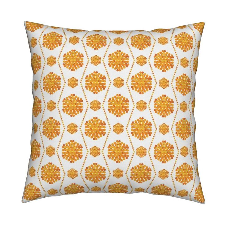 Catalan Throw Pillow featuring Sunny dotted pattern by milagrosvita | Roostery Home Decor