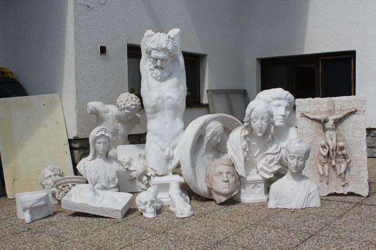 sadrové odliatky / plaster cast /scultura di gesso  Stanislav Kľúčik, 2016