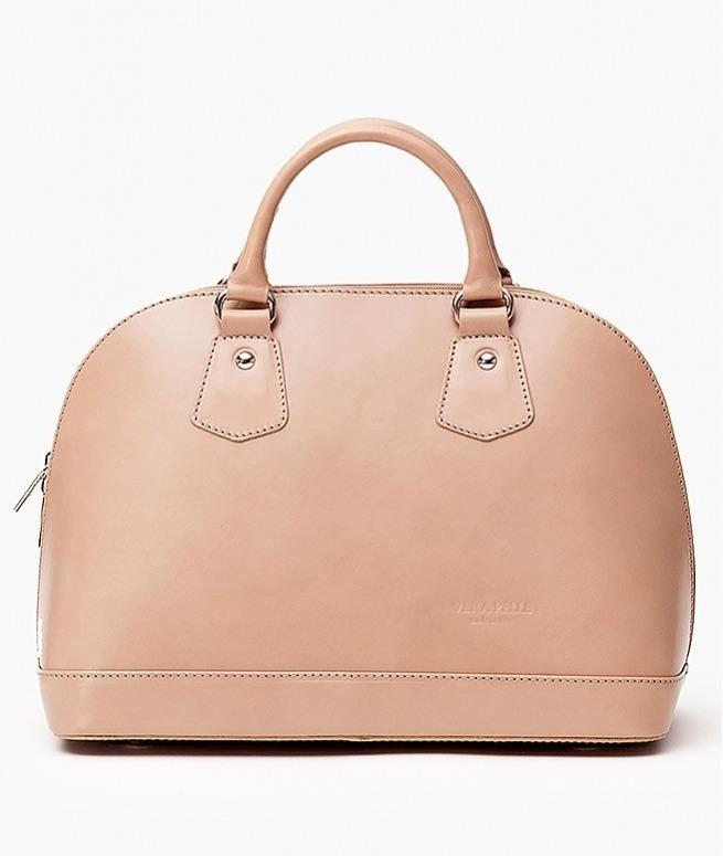 Oryginalna torba damska włoskiej produkcji (Vera Pelle) wykonana ze skóry naturalnej najwyższej