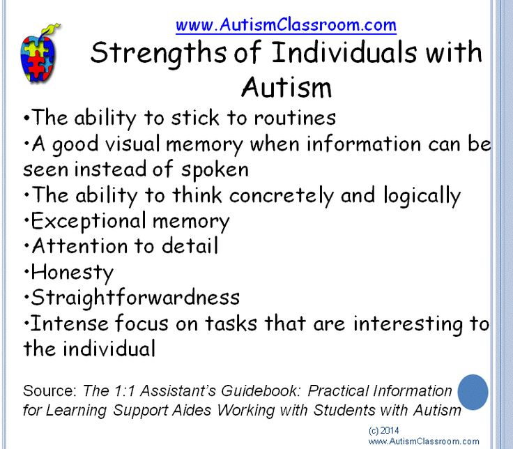 Strengths of individuals with autism.