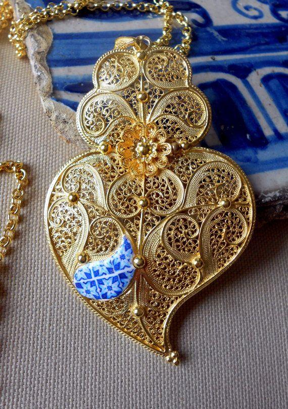 Portugal HUGE Filigree Handmade Heart of Minho Viana by Atrio