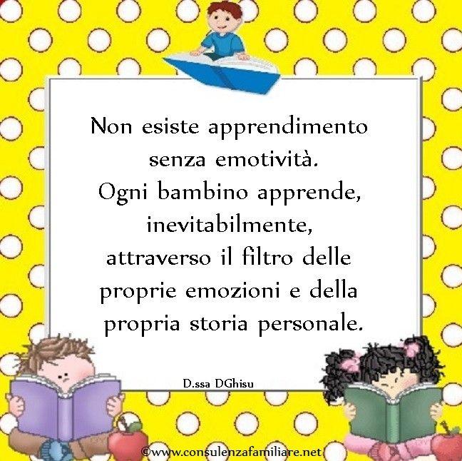 Le #emozioni permeano ogni #apprendimento del #bambino.  #educazione #figlio #crescita #infanzia #puerperio #genitori #psicologiadellinfanzia #mamme #bambini #famiglia #papà #consulenzagenitoriale #psicopedagogia #dssaDGhisu