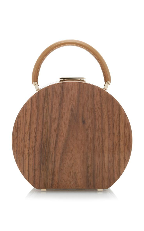Bumi18 Walnut Wood Top Handle Bag by BUWOOD Now Available on Moda Operandi