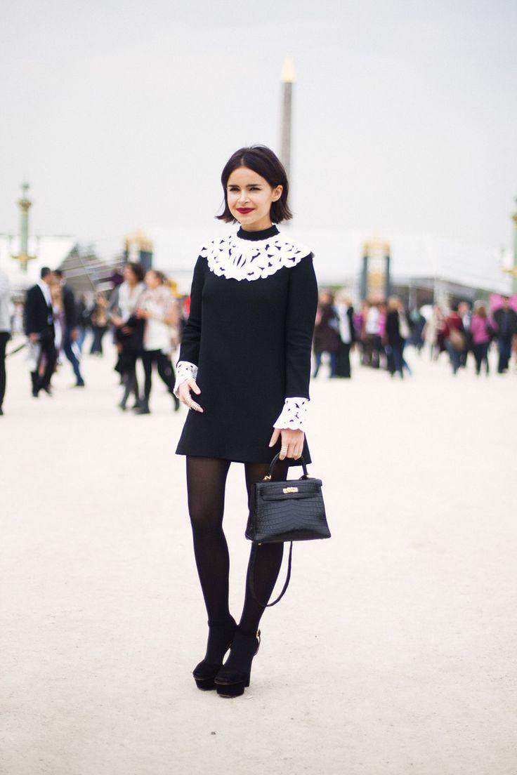 A street full of French / Paris Fashion Week