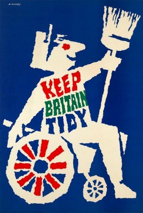 poster KEEP BRITAIN TIDY 1963 Abram Games