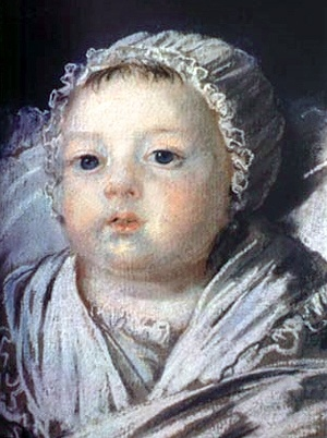 On July 9, 1786, at seven thirty in the evening, Marie Sophie Hélène Béatrice de France, the fourth child of King Louis XVI and Queen Marie Antoinette was born. Sadly, this petite princess would not live to celebrate her first birthday. She died of tuberculosis on June 19, 1787. Her death would plunge Marie Antoinette into deep despair.