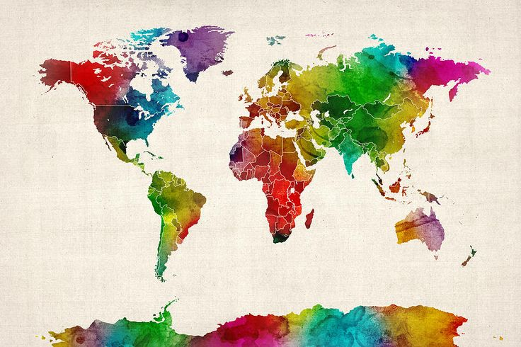 Tattoo - Idea - Inspiration - Watercolor - Aquarelle - Drawings - Globe - World