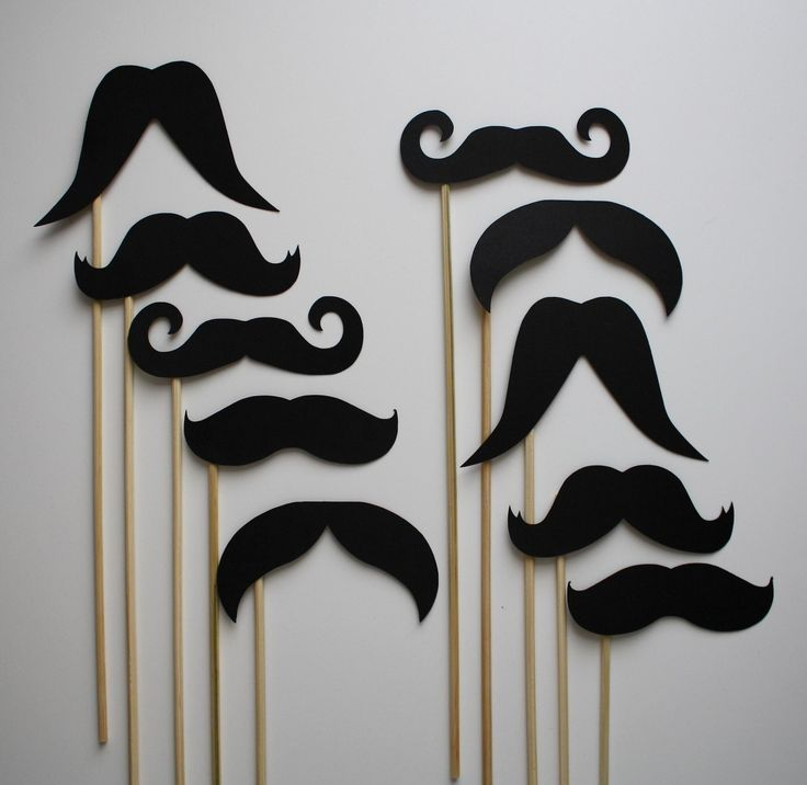 Spy disguises- Mustaches on a stick... Or with double fashion tape