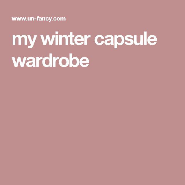 my winter capsule wardrobe