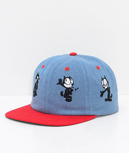 f37bf344c6188 HUF x Felix The Cat Doing Things Blue 6 Panel Hat in 2019
