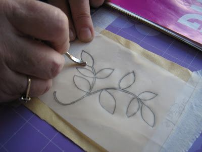 Nice tutorial on how to transfer a design for embroidery, from Ella's Craft Creations. I wonder if this could work for leather as well,....
