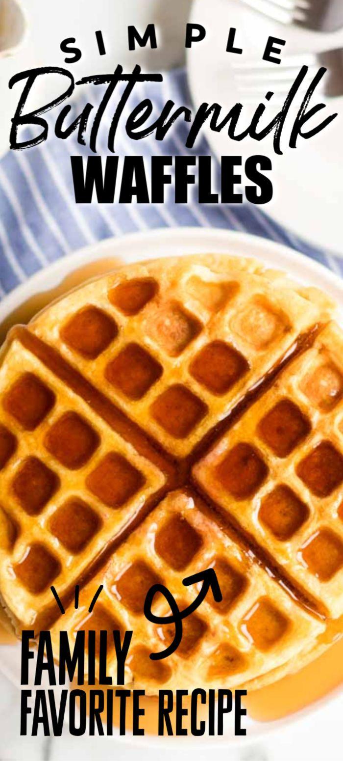 Buttermilk Waffles In 2020 Homemade Waffles Buttermilk Waffles Homemade Waffle Mix