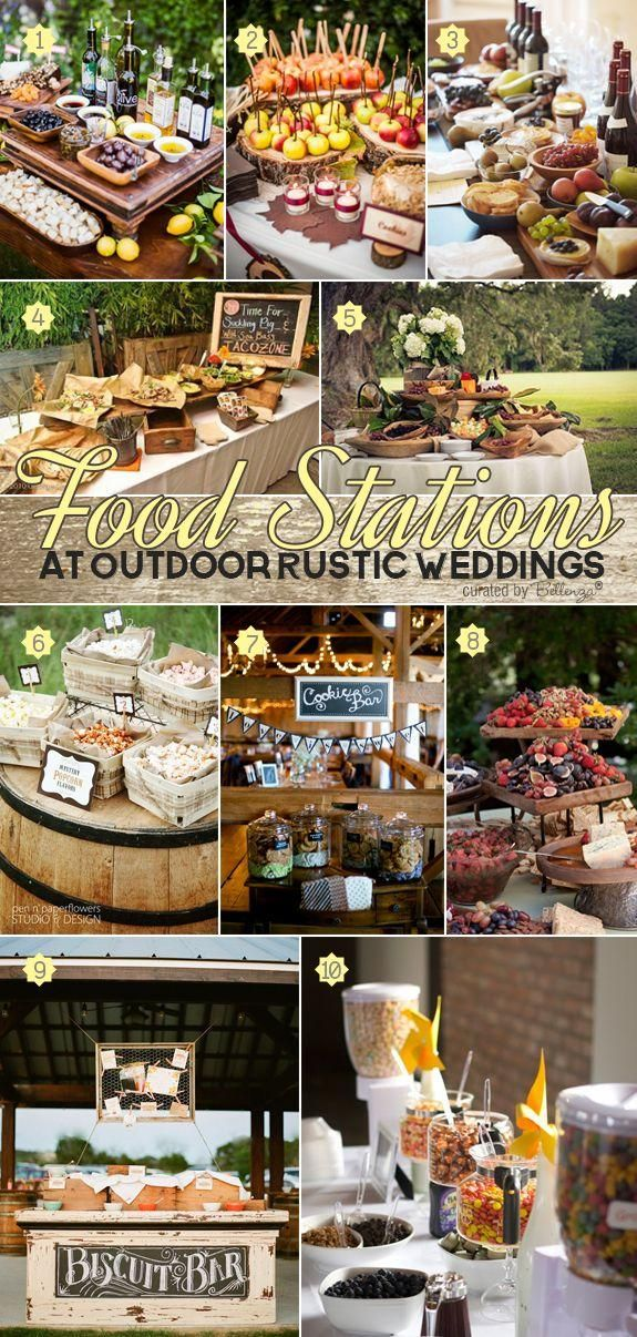 Deliciously stylish ideas for food stations at outdoor rustic weddings from taco bars to wine and cheese displays to pie tables. See all the great finds at the Wedding Bistro at Bellenza. http://www.bellenza.com/wedding-ideas/decorate/deliciously-stylish-food-stations-for-outdoor-rustic-weddings.html rusticweddings fallweddings foodstations weddingbuffets weddingfood weddingmenu rustic #rusticweddings #fallweddings #foodstations