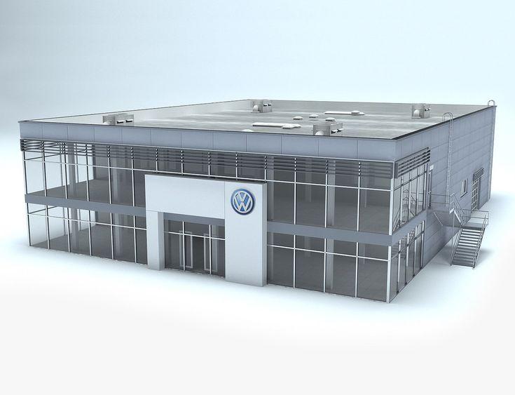 Max Volkswagen Dealership Showroom - 3D Model
