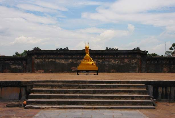 The gold dragon, Hue citadel, Vietnam. Image by Lucy Munday. See more at www.lucymunday.com