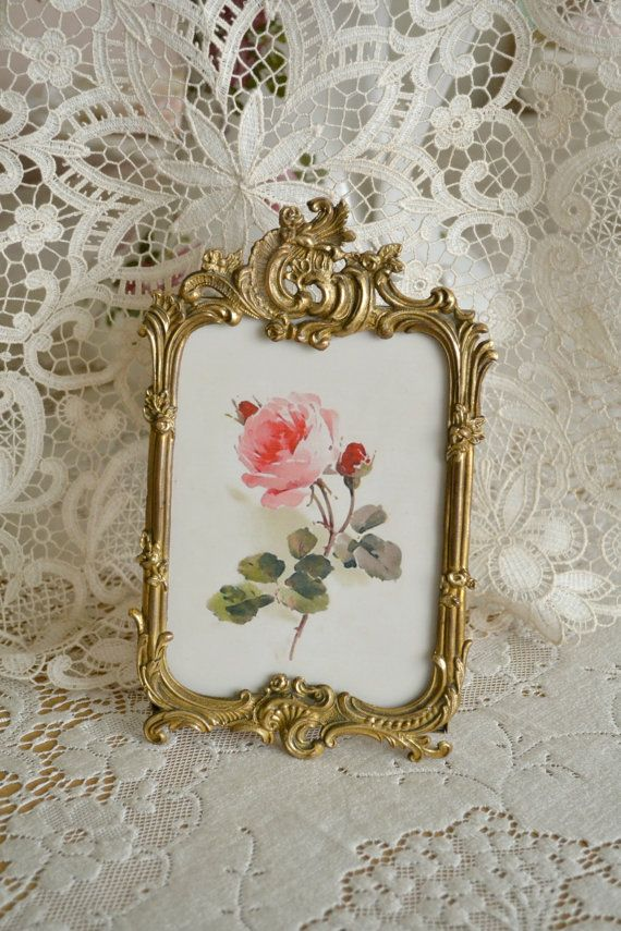 Stunning Antique Ormolu Standing Picture Frame