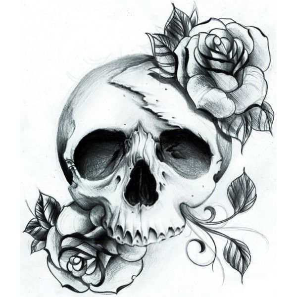 Skull Rose Tattoo that I would love to have as a sleeve. Have 4 or 5 of these going down my arm… YUSSS!!!! I think so.  | followpics.co