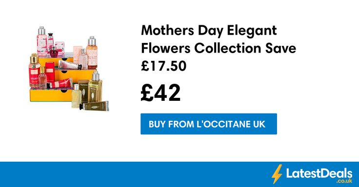 Mothers Day Elegant Flowers Collection Save £17.50, £42 at L'Occitane UK