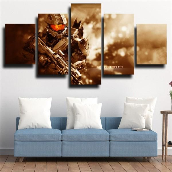 Dota 2 Medusa In 2020 Canvas Art Wall Decor Unique Canvas Art Halo Master Chief