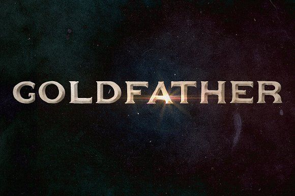 Goldfather Typeface by Roman Paslavskiy on @creativemarket