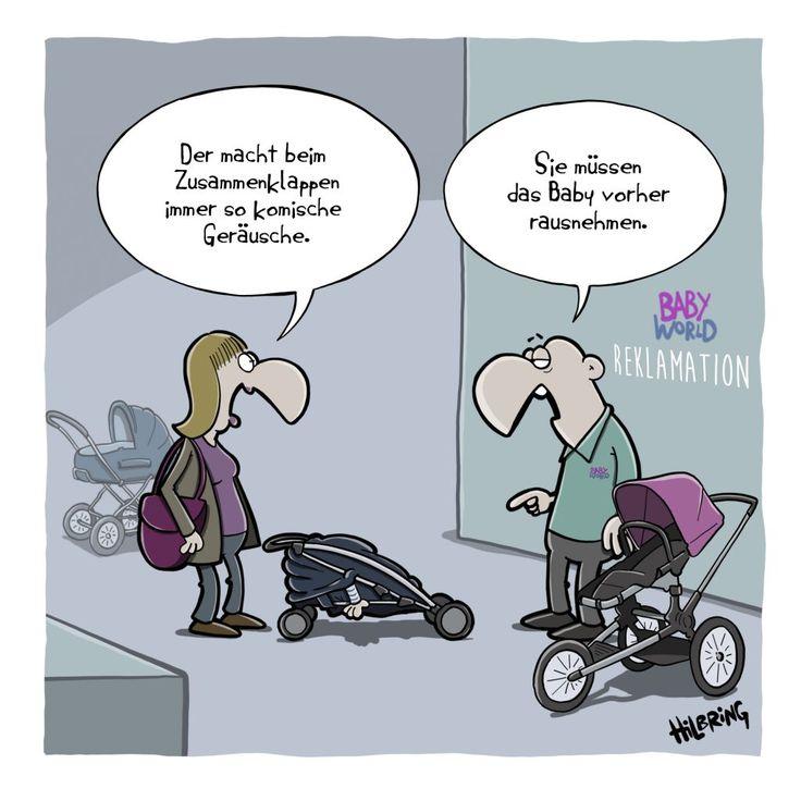 Kinderwagen … | SCHÖN DOOF! | Lustig illustration, Komisch