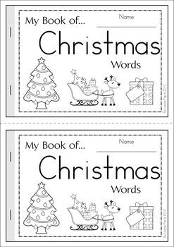 My Book of...Christmas Words {FREE} many many pages, would need to pick and choose only a few...