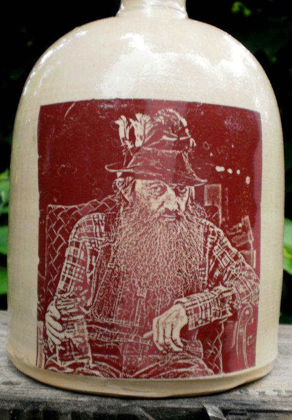 Popcorn Sutton moonshine jug by MoonshineJug on Etsy, .00