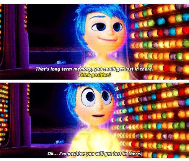 Sadness Being Positive Disney And Others Disney Inside Out