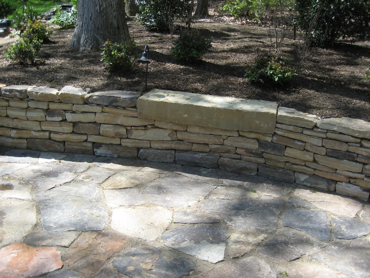 Laurel Mountain Wall With Rock Step Inset And Laurel Mountain Patio.