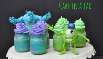 Monsters University Cakes in a Jar
