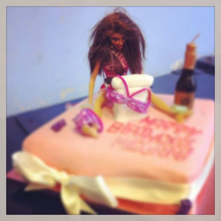 Drunken Barbie cake #2!