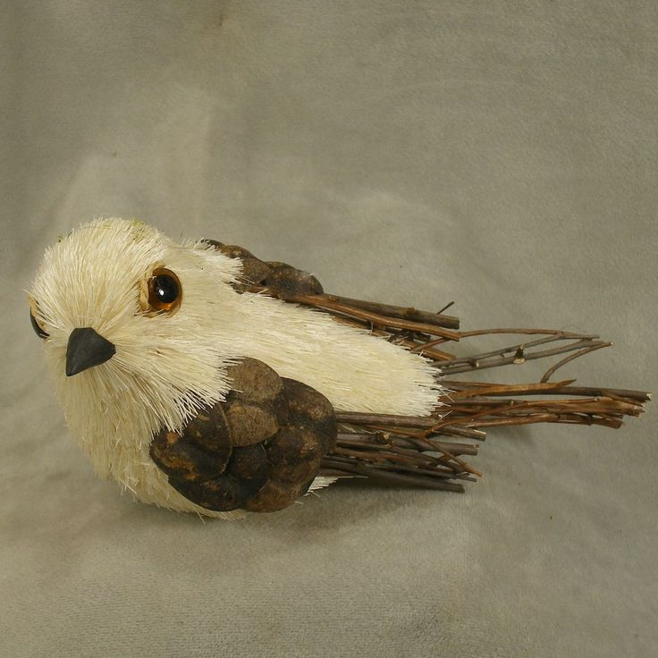 1 Pc, Sisal Artificial Bird 6.5 Inches Long By 3.25 Inches Tall By 3 Inches Wide
