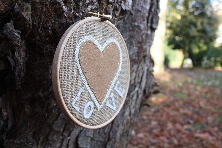 """5"""" Love hoop design £10.50"""