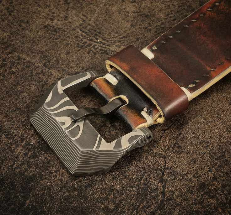24mm Damascus Watch Buckle with Superconductor tongue