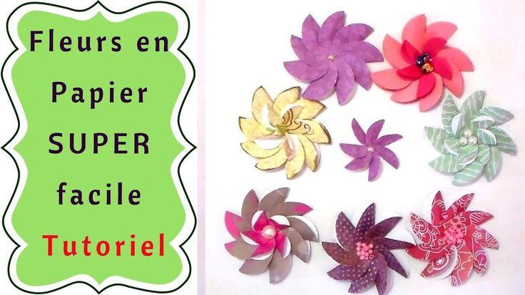 Comment Faire des Fleurs en Papier Simplement : Tutoriel | Scrap, Plants, Art