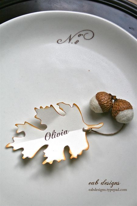 Elegant Fall Place Card Happily Ever After Pinterest
